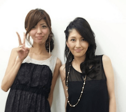 宮地真緒(左)と吉井怜(右)