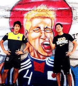 田中毅(右)